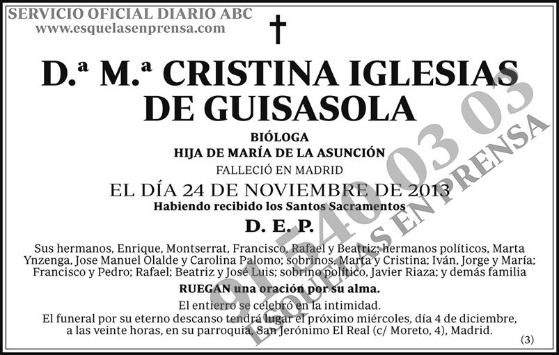 M.ª Cristina Iglesias de Guisasola